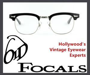 Old Focals: Hollywood's Vingtage Eyewear Experts. Visit them online at oldfocals.com