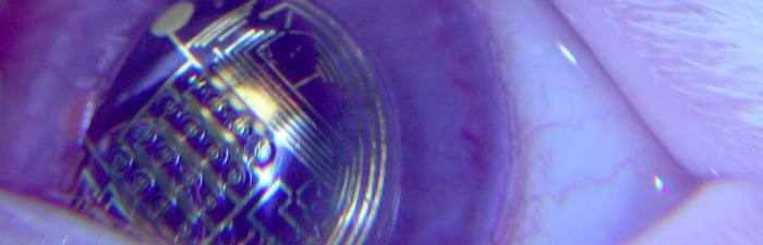 Contact lens that could monitor your health.
