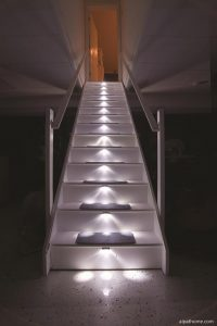 stairlighting kit lit basement stairs