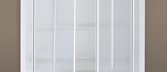 Partially closed Trackless Shower Doors