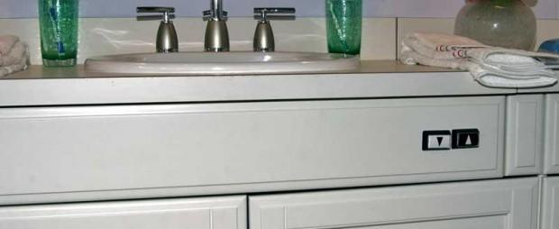 CRDA Universal Design Home 2nd Floor Bath with adjustable sink.