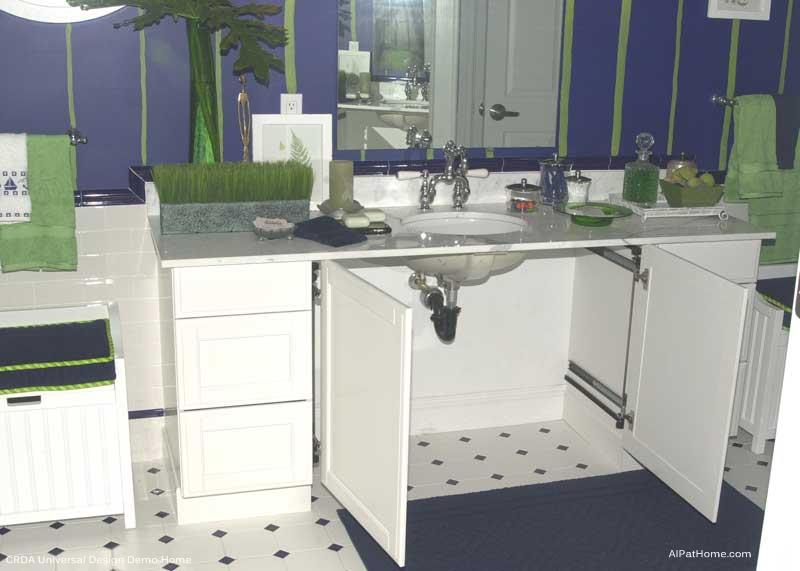 CRDA Universal Design Bath Features Knee Space Under Lavatory