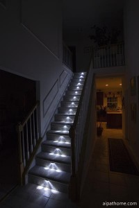 Lighted Straight Staircase