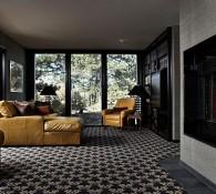 Green Mountain Ranch Living Room - Textured Walls
