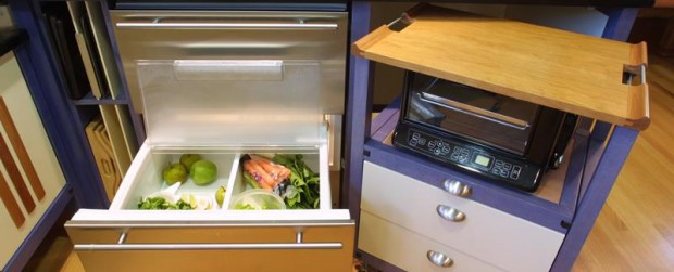 Home for the Next 50 Years - Interior-kitchen-refrigerator-drawers-moveable-counter
