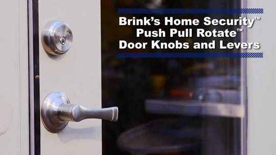Brink's Security door knob pull push rotate