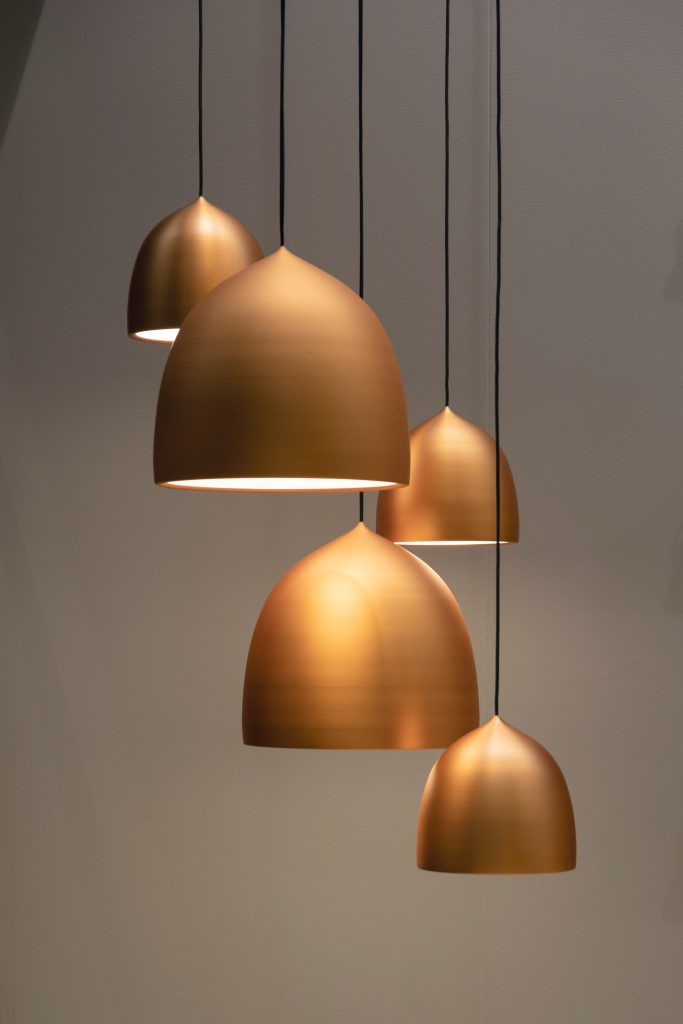 gold pendant lights picture by jean philippe delberghe